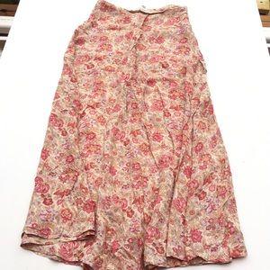 Banana Republic Casual A-Line Floral Skirt
